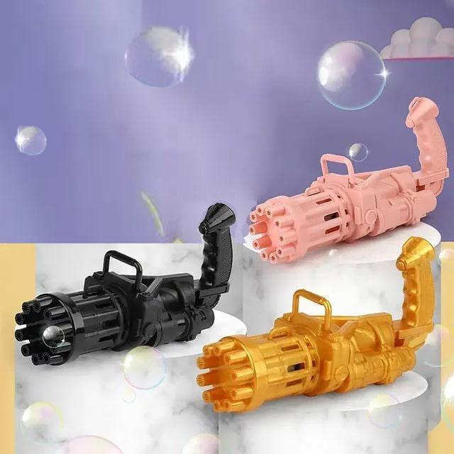Пистолет с мыльными пузырями на батарейках пластмассовый 20 *9 *7 см в ассортименте - фото 1
