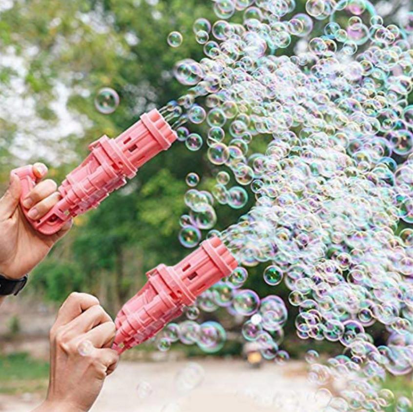 Пистолет с мыльными пузырями на батарейках пластмассовый 20 *9 *7 см в ассортименте - фото 10