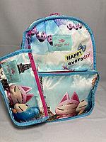 """Школьный рюкзак для девочек """"Glossy Bird(двухсторонний). Высота 41 см, ширина 30 см, глубина 14 см., фото 1"""