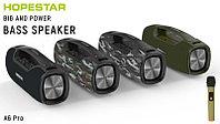 Портативная колонка Hopestar A6 Pro комбинированная(зеленый+камуфляж) С беспроводным микрофоном в комплекте!!