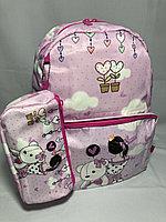"""Школьный рюкзак для девочек """"Glossy Bird( двухсторонний). Высота 41 см, ширина 30 см, глубина 14 см., фото 1"""