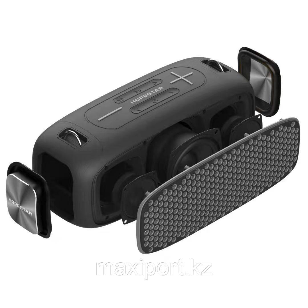 Портативная колонка Hopestar A30 Pro Boombox черная с беспроводным микрофоном в комплекте!! - фото 2