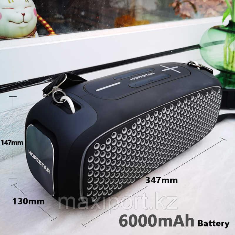 Портативная колонка Hopestar A30 Pro Boombox черная с беспроводным микрофоном в комплекте!! - фото 1