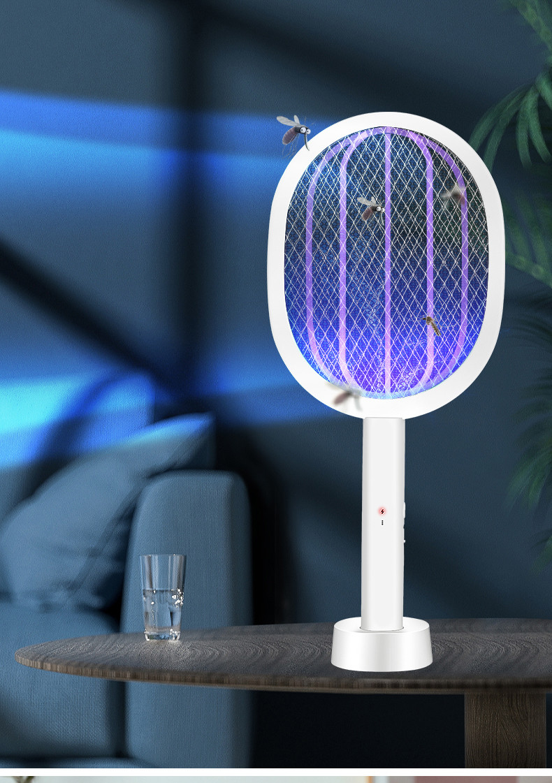 Ракетка мухобойка электрическая с док-станцией+ ночник/ уничтожитель комаров Mosqueto Rocket