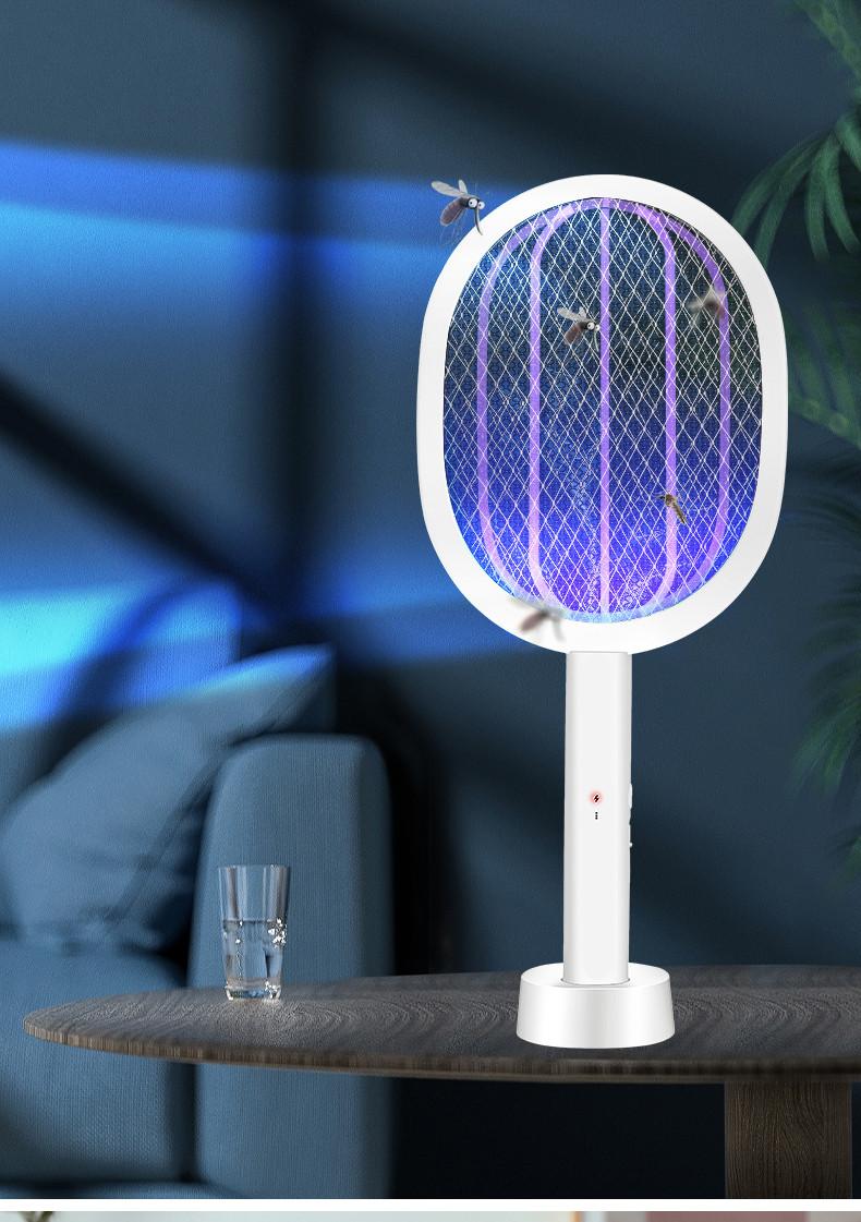 Ракетка мухобойка электрическая с док-станцией+ ночник/ уничтожитель комаров Mosqueto Rocket - фото 1