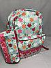 """Школьный рюкзак для девочек """"Glossy Bird"""". Двухсторонний. Высота 41 см, ширина 30 см, глубина 14 см."""