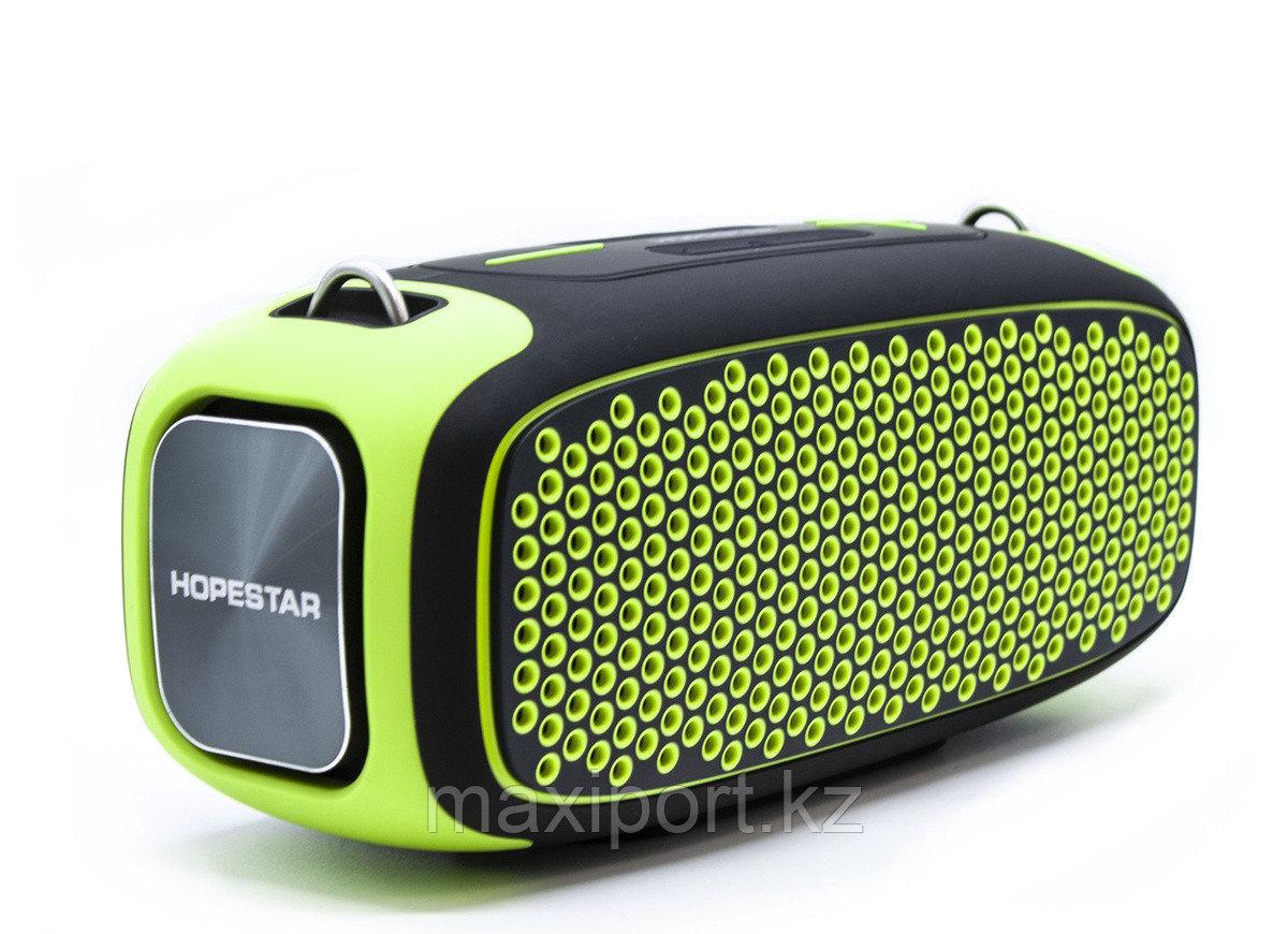 Портативная колонка Boombox Hopestar A30 Pro Чёрно-зеленая - фото 1