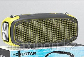Портативная колонка Hopestar A30 Pro с беспроводным микрофоном в комплекте!! Комбинированная(Серый+желтый)