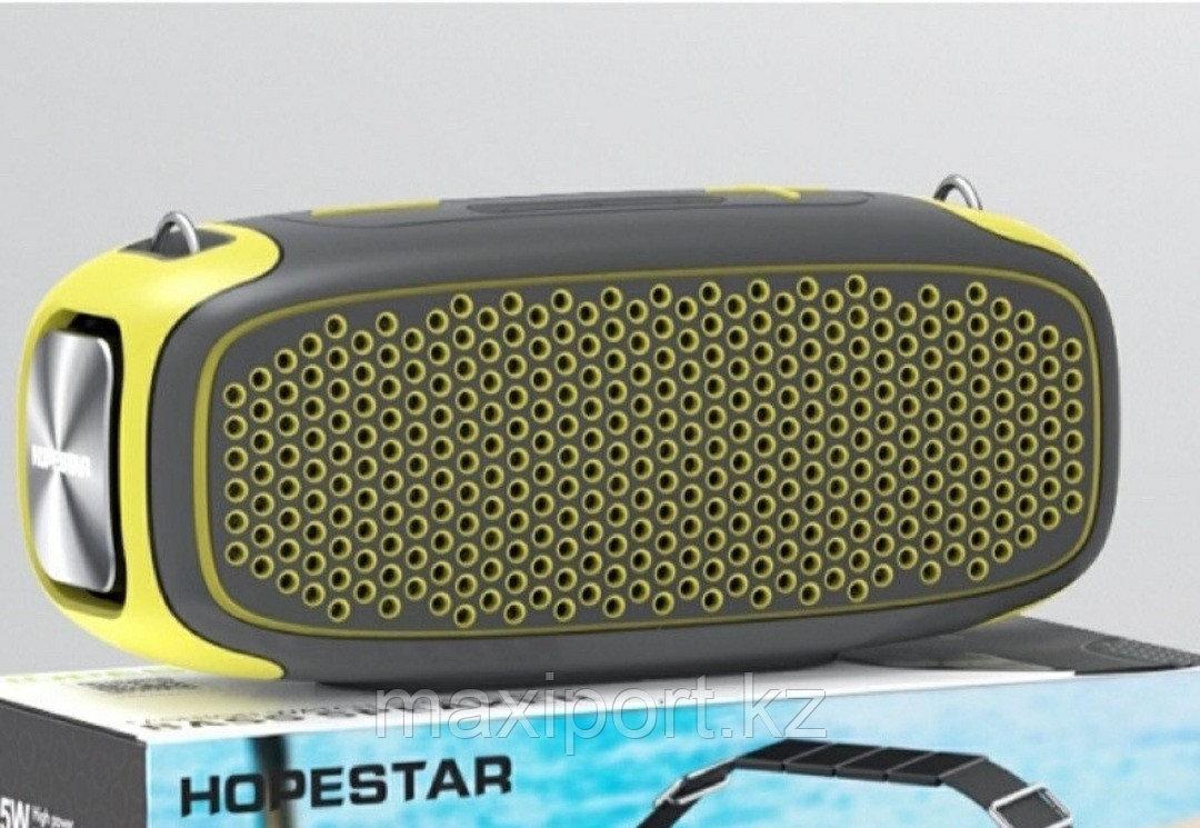 Портативная колонка Hopestar A30 Pro с беспроводным микрофоном в комплекте!! Комбинированная(Серый+желтый) - фото 1