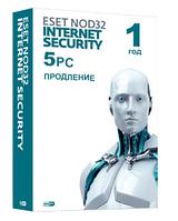 Eset NOD32 Internet Security - продление лицензии на 1 год на 5 устройств