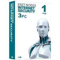 Eset NOD32 Internet Security- универсальная лицензия на 1 год на 3 ПК или продление 20 месяцев
