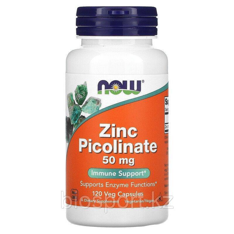 Now Foods, пиколинат цинка, 50 мг, 120 капсул