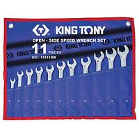 Набор ключей с трещоткой в рожке 11 пр KING TONY 14111MRN