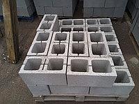 Сплитерный блок толстостенный 390х190х190 гладкий Серый, фото 1