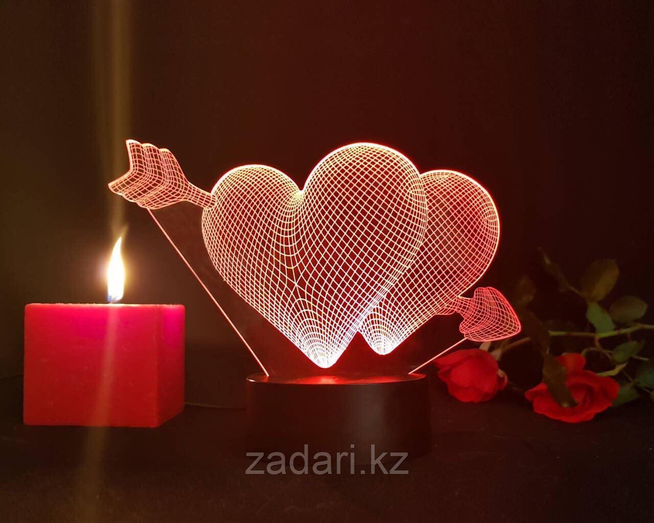 Ночник 3D love