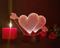 Ночник 3D love, фото 1