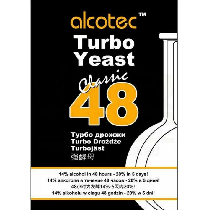 Спиртовые дрожжи Alcotec Turbo 48, 130 г
