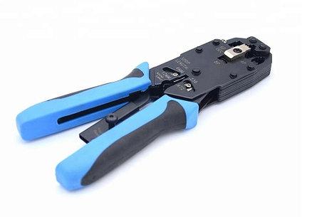 Инструмент обжимной для RJ-45/12/11 с храповым механизмом, фото 2