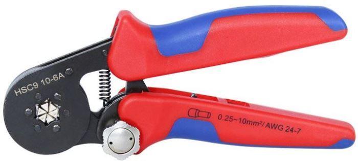 Пресс- клещи для опрессовки наконечников 0.25-10 мм² (шестигранный профиль обжима с рифлением)