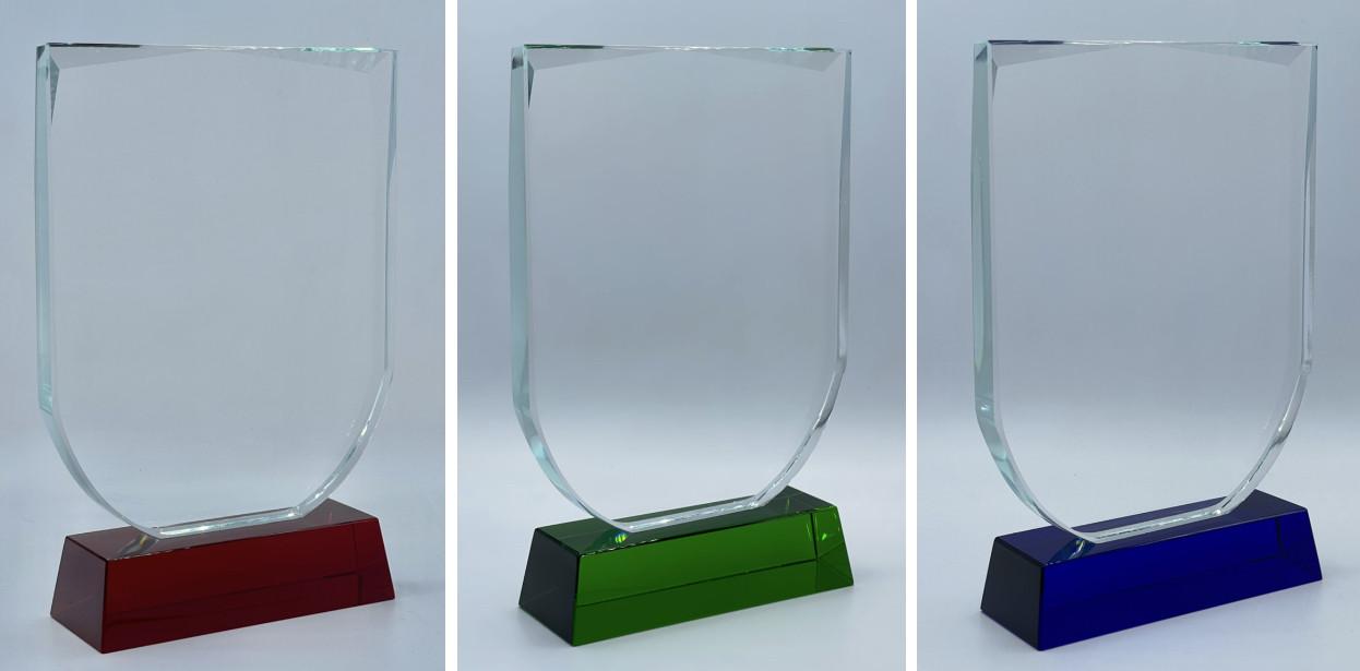 "Награда из стекла ""ЩИТ"", размер - 195х140х15мм"