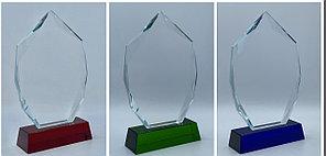 Награда из стекла, размер - 210х135х15мм