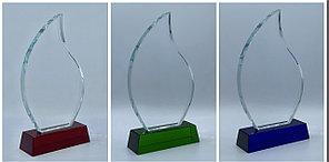 Награда стеклянная, размер - 215х125х15мм