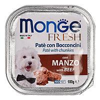 Монже Паштет для собак с говядиной