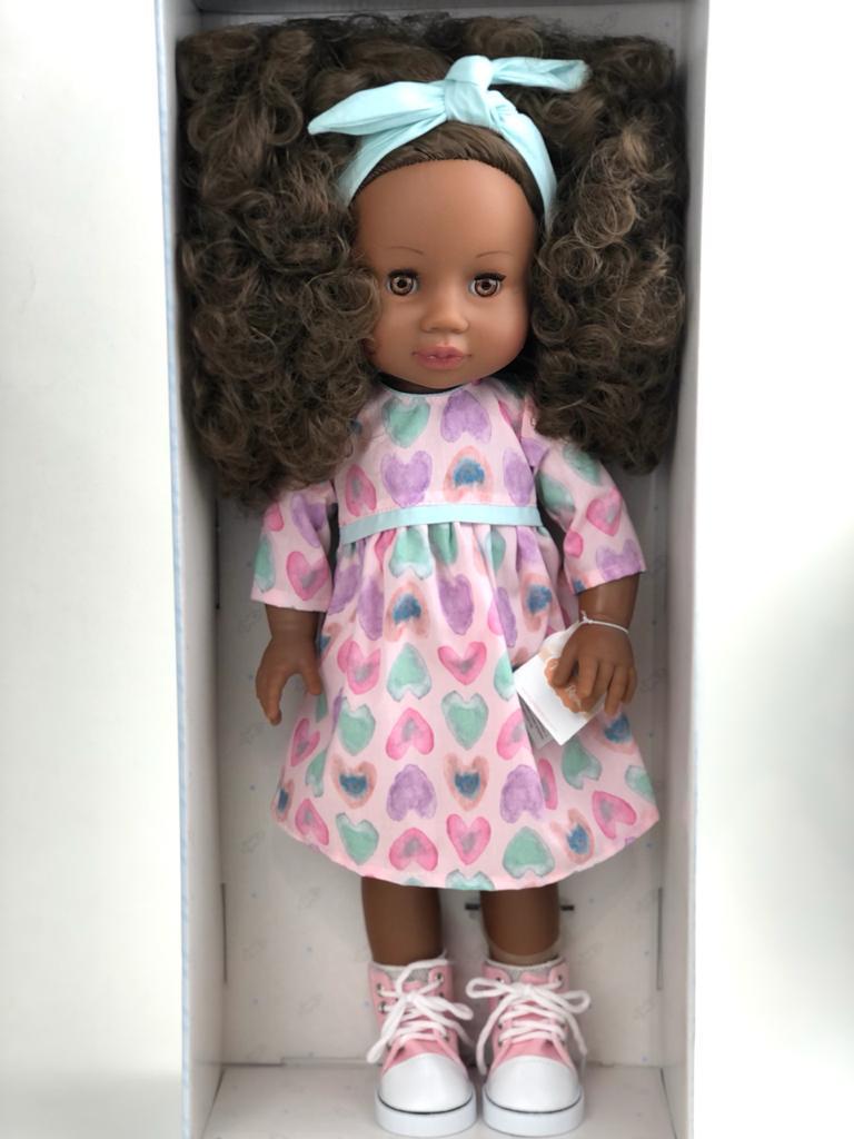 Кукла Paola Reina афроамериканка с кудряшками/ Испания/ 34 см - фото 1