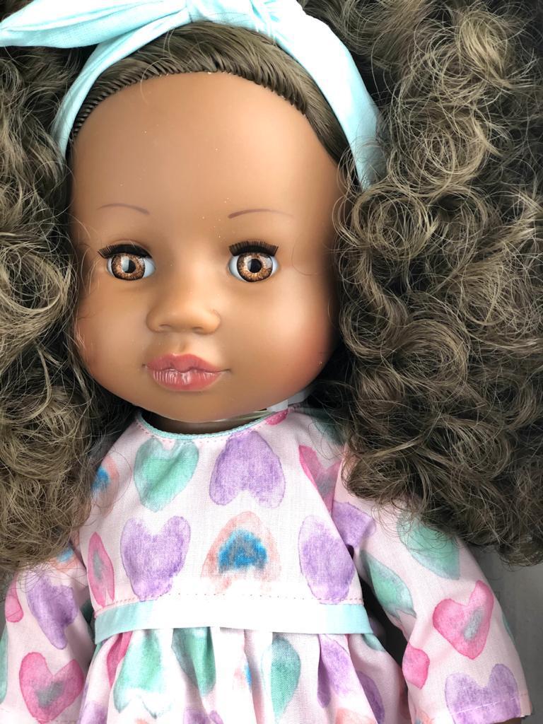 Кукла Paola Reina афроамериканка с кудряшками/ Испания/ 34 см - фото 2