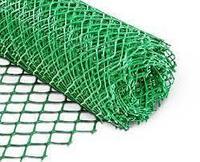 """Сетка стальная плетеная """"Рабица"""" из проволоки в полимерном покрытии 2,5мм (1,4мм), размер ячейки 40х40"""