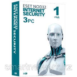 Eset NOD32 Internet Security- электронная лицензия на 1 год на 3 ПК или продление 20 месяцев