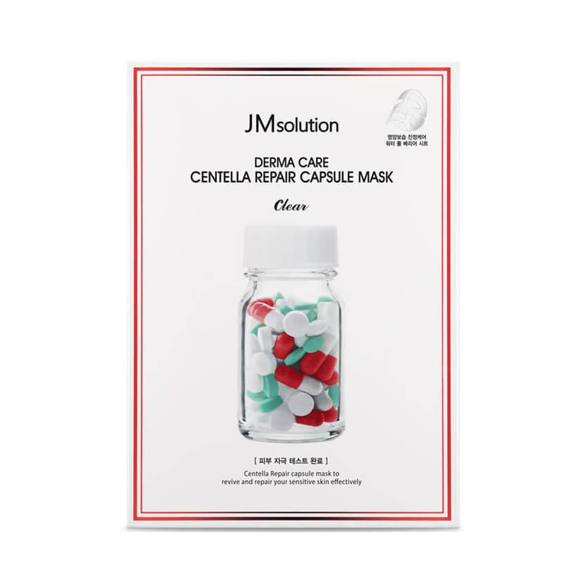 JM Solution Успокаивающая целлюлозная маска с центеллой азиатской Derma Care Centella Repair Capsule Mask