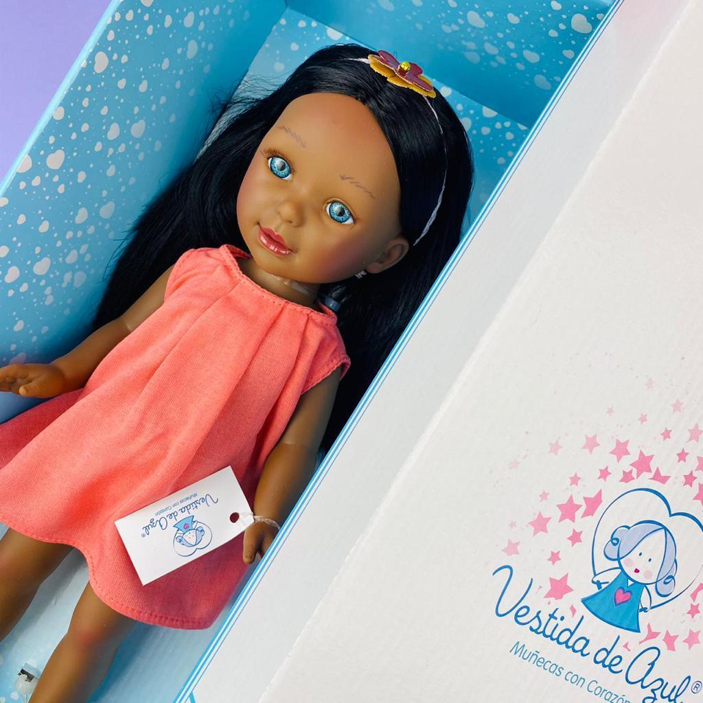 Паулина в прямом розовом сарафане/ 34 см/ PAU-852/ (Vestida de Azul, Испания) - фото 2