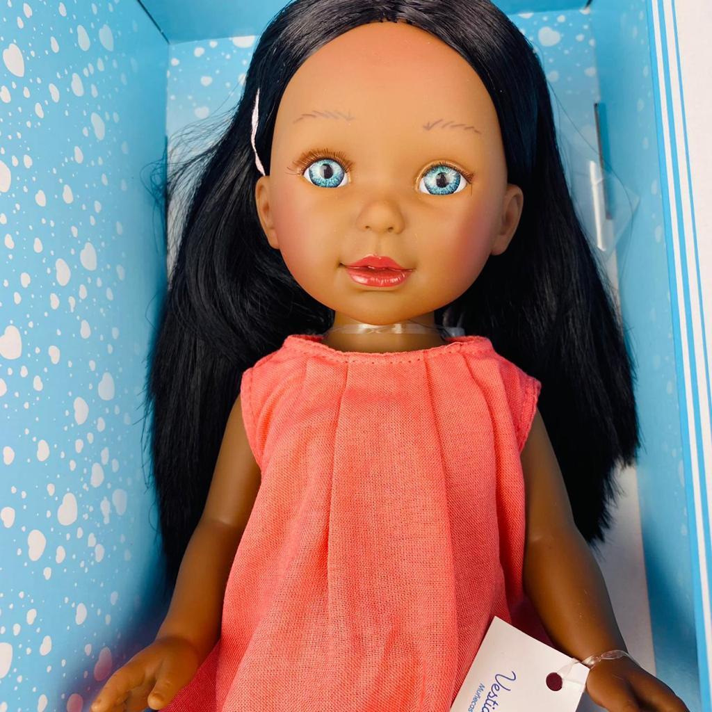 Паулина в прямом розовом сарафане/ 34 см/ PAU-852/ (Vestida de Azul, Испания) - фото 4