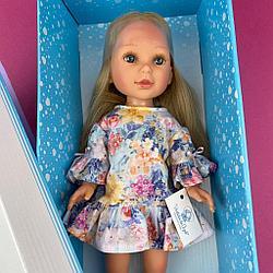 Паулина в платье с оборками цветочный принт/ 34 см/ PAU-847/ (Vestida de Azul, Испания)