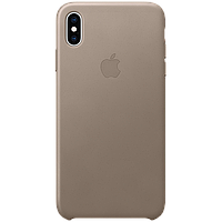 IPhone XS Max Leather Case - Taupe, Model