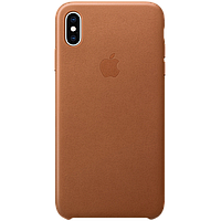 IPhone XS Max Leather Case - Saddle Brown, Model