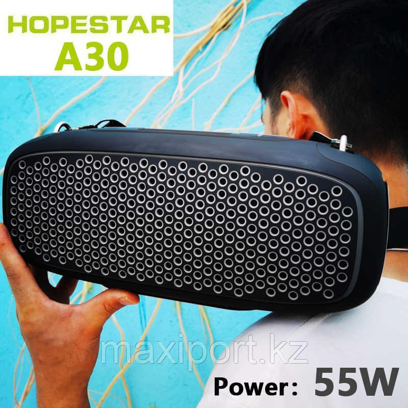 Портативная колонка Hopestar A30 Pro Boombox черная с беспроводным микрофоном в комплекте!! - фото 3