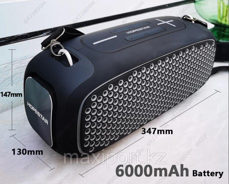 Портативная колонка Hopestar A30 Pro с беспроводным микрофоном в комплекте!! Комбинированная(Серый+желтый) - фото 2