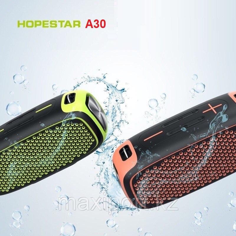 Портативная колонка Hopestar A30 Pro с беспроводным микрофоном в комплекте!! Комбинированная(Серый+желтый) - фото 3