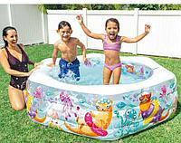 """Детский надувной бассейн Intex """"Аквариум"""" с надувным дном 191х178х61см"""