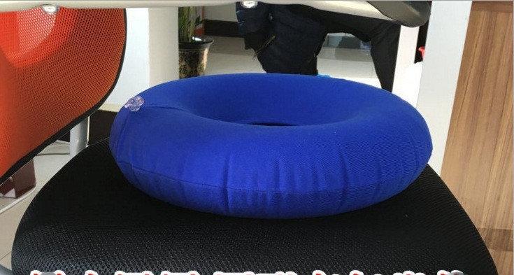Противопролежневая подушка, подушка на сидение надувная (с насосом), фото 2