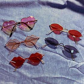 Стильные очки под сердечки, овал