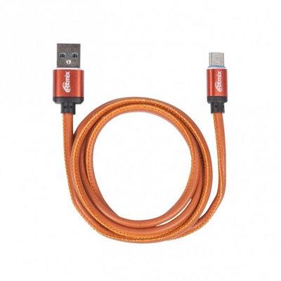 Кабель USB, Ritmix RCC-435 Leather, 1.0м