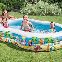Семейный надувной бассейн Intex «Райская лагуна» 262*160*46 см (56490)