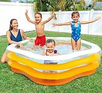 """Детский надувной бассейн Intex """"Звезда"""" с надувным дном 185×180×53 см (596495)"""