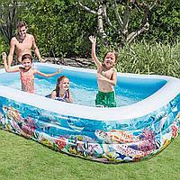 Детский надувной бассейн Intex «Тропический риф» 305*183*56 см (58485)