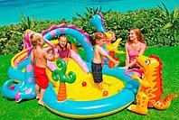 Детский надувной игровой центр Intex «Диноленд» 333*229*112 см (57135)