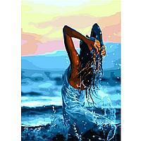 "Картина по номерам ""Девушка в море"" 40х50 см"