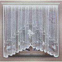 Штора кухонная 220х160 см, белый, 100% п/э, шторная лента